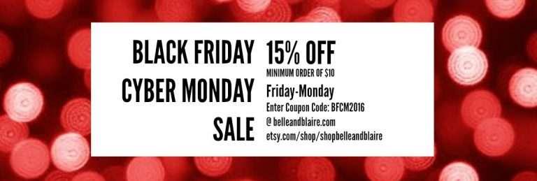 Black Friday Cyber Monday Sale 2016