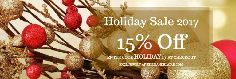Holiday Sale 2017 – 15% Off